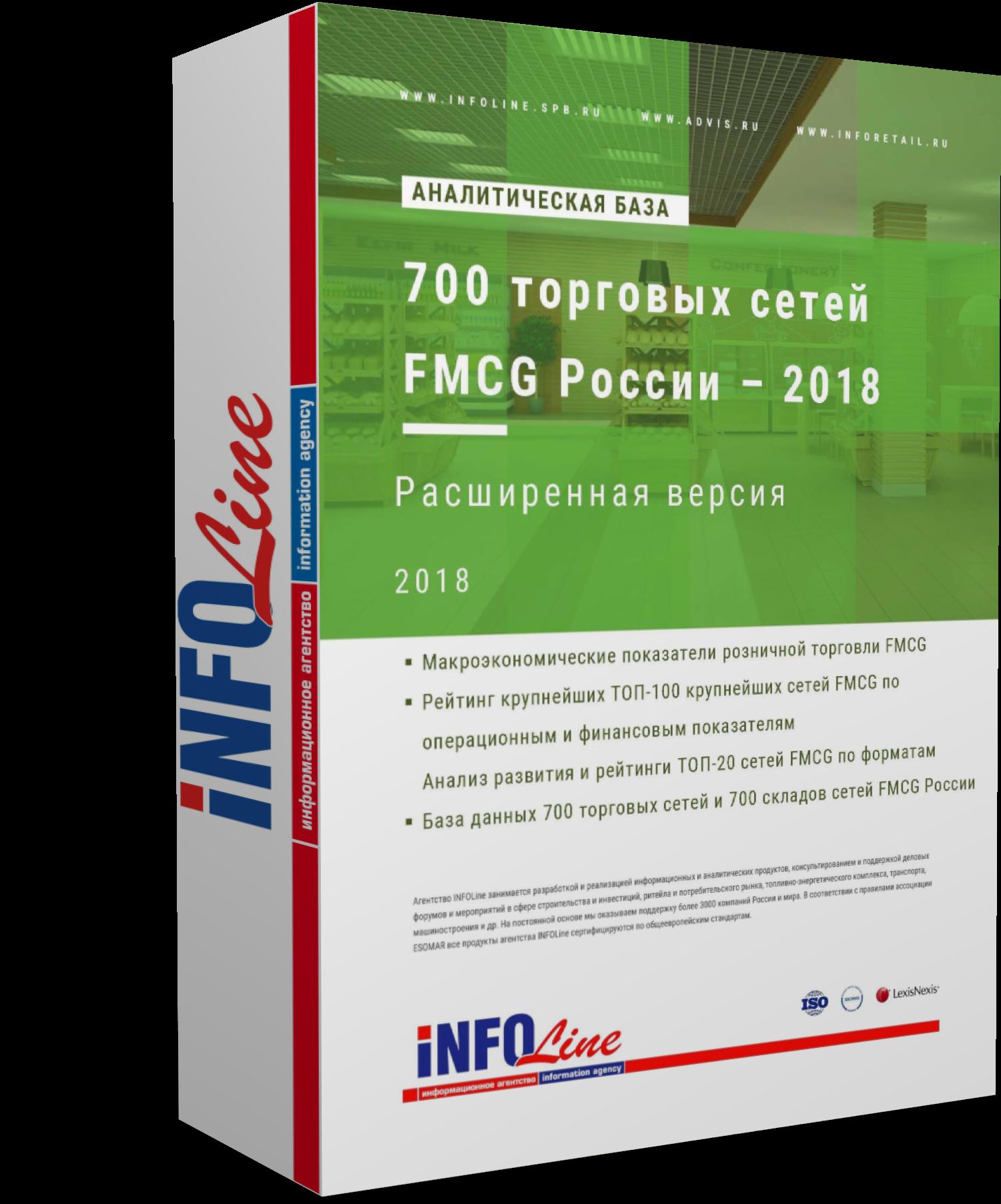Аналитическая база: 700 торговых сетей FMCG России – 2018. Расширенная версия